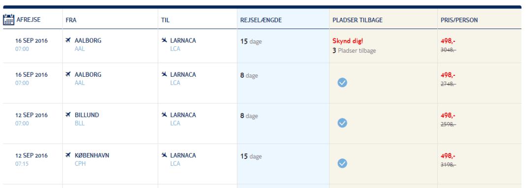 Flybilletter til Cypern fra kr. 498