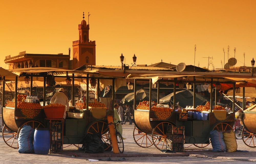 Djema-el-Fna markedet - Marrakech i Marokko
