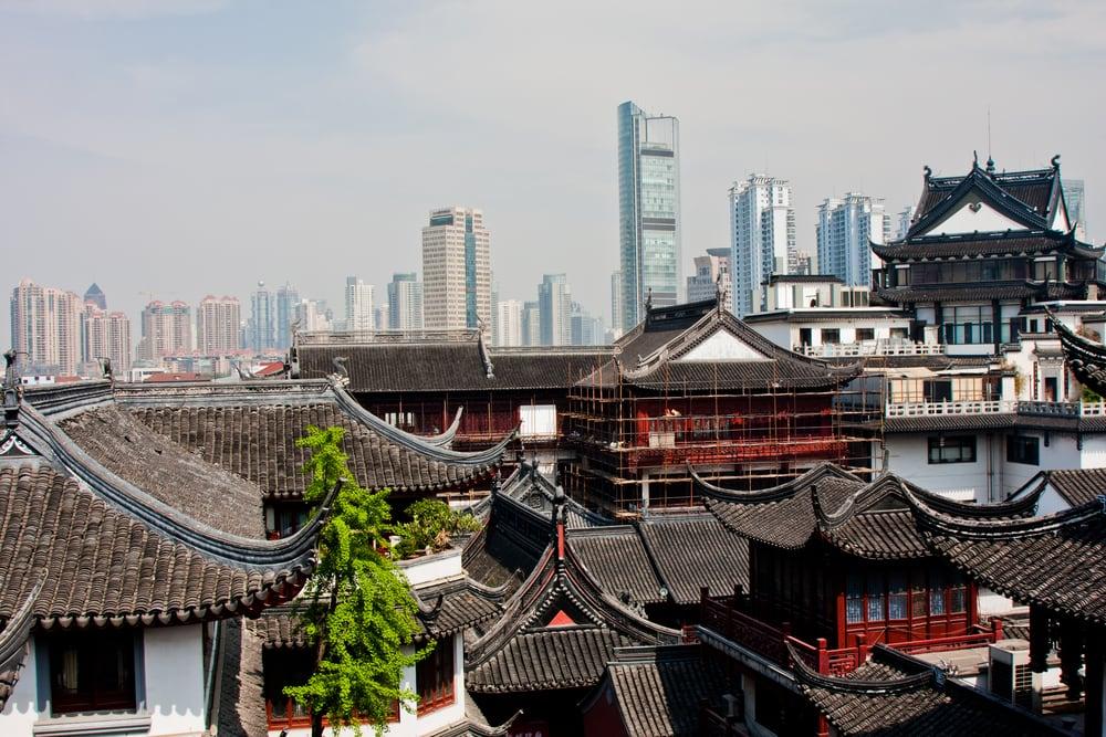 Kontraster - Shanghai i Kina