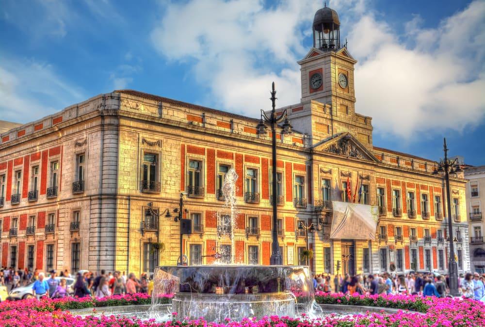 Puerta del Sol - Madrid i Spanien