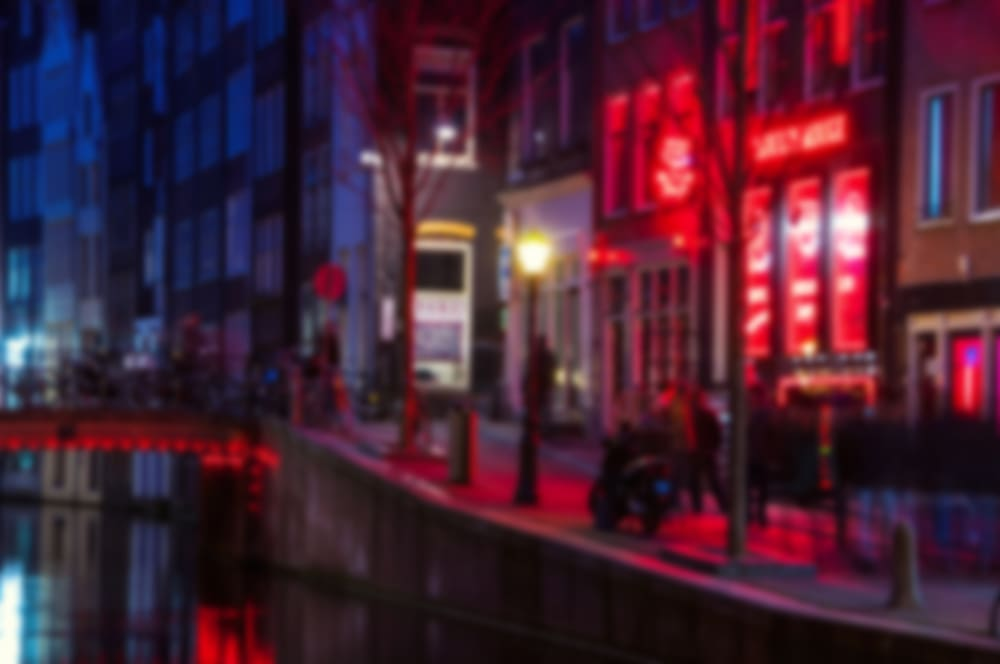 Red Light District - Amsterdam i Holland