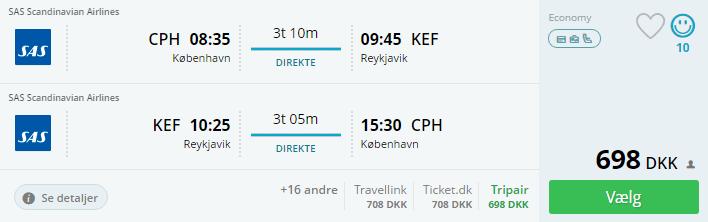 Billige flybilletter til Reykjavik