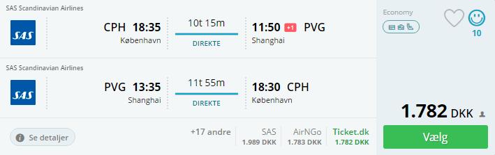 Flybilletter til Shanghai i Kina
