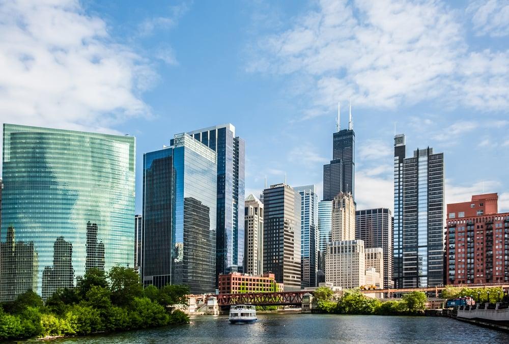 West Wacker Drive - Chicago i Illinois