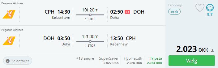 Flybilletter til Doha i Qatar