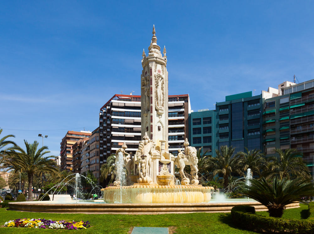 Luceros pladsen - Alicante i Spanien