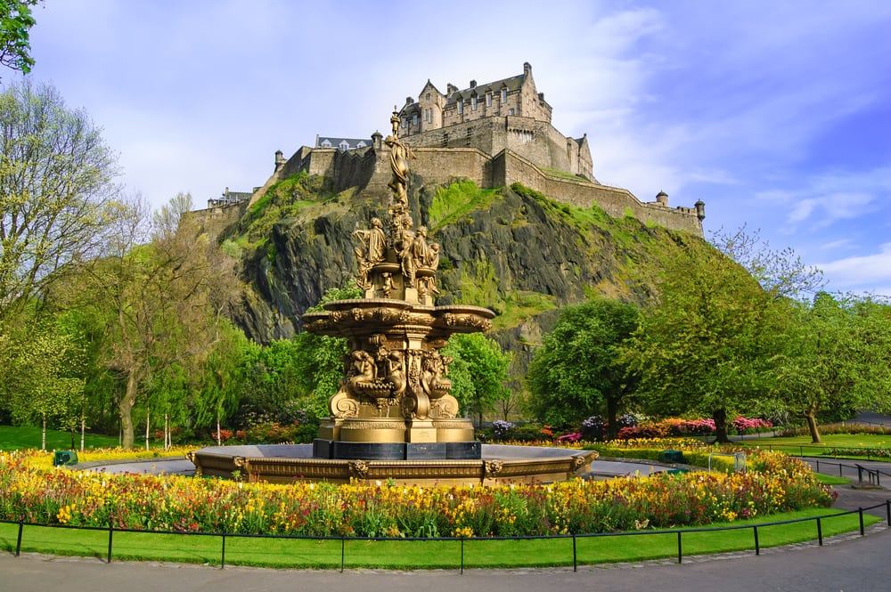 Pinces Street Gardens - Edinburgh i Skotland