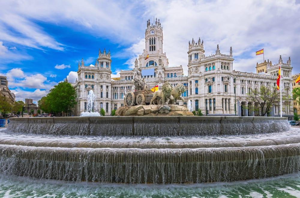 Plaza de la Cibeles - Madrid i Spanien