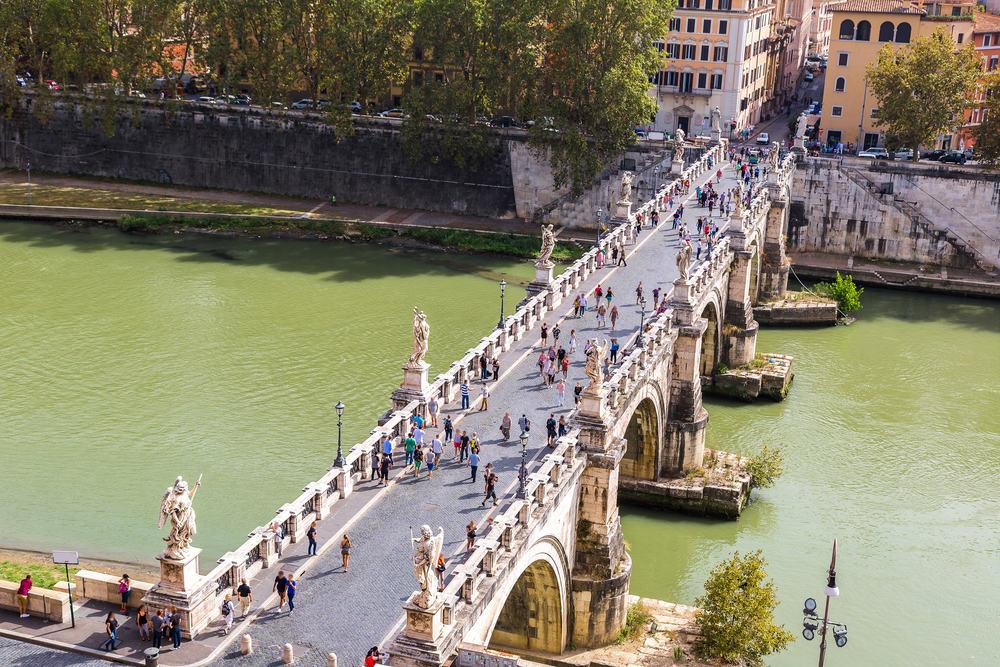 Sant Angelo's broen - Rom i Italien