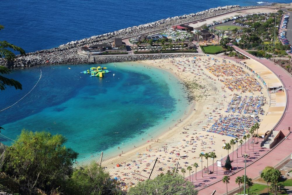 Amadores stranden - Gran Canaria i Spanien