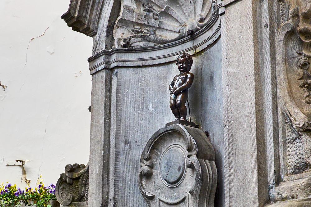 Manneken Pis - Bruxelles i Belgien