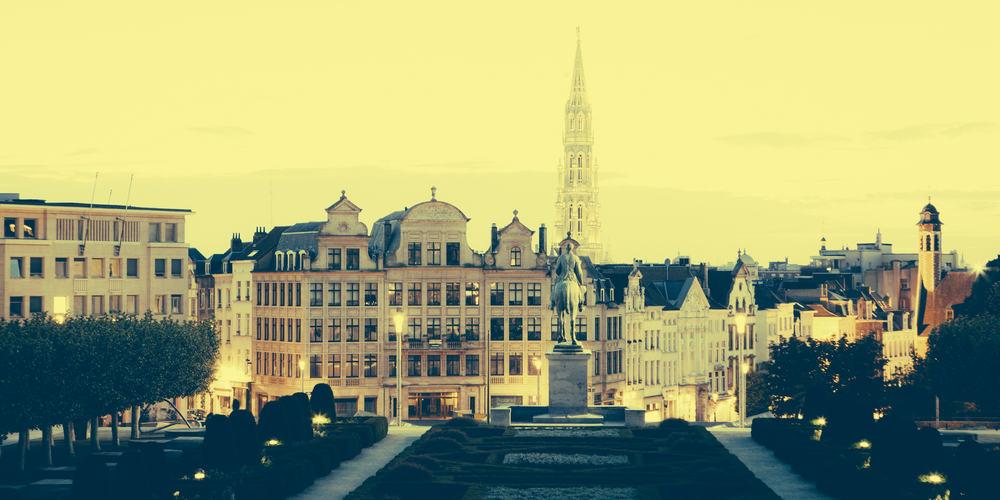 Mont des Arts - Bruxelles i Belgien