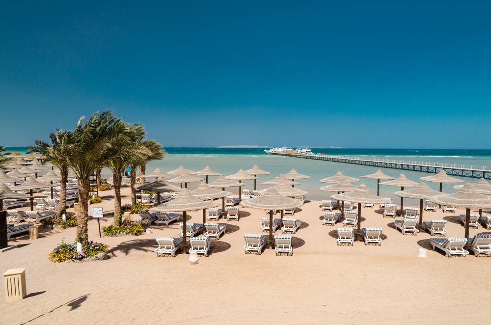 Strand - Hurghada i Egypten