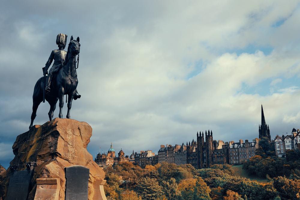 The Roya Sscots Greys Monument - Edinburgh i Skotland