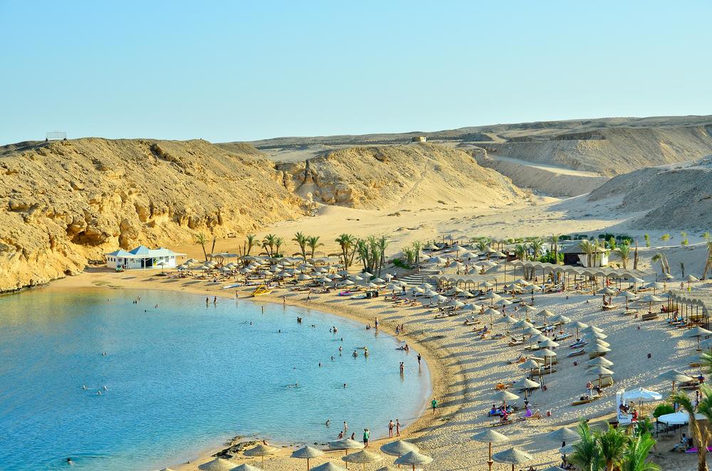 Tropisk strand - Hurghada i Egypten