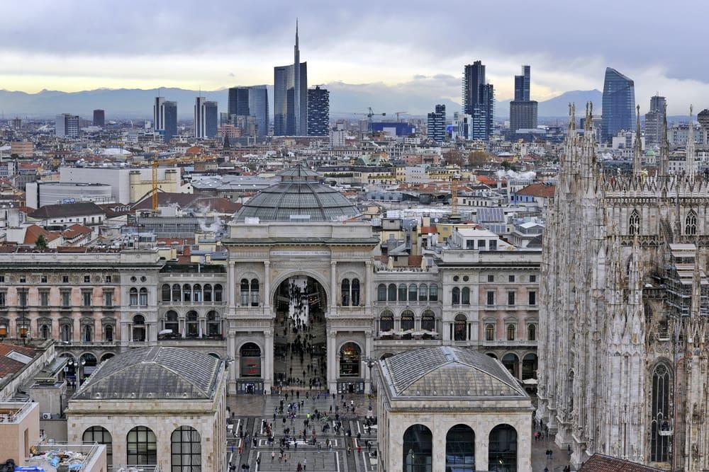 Udsigt over Milano i Italien