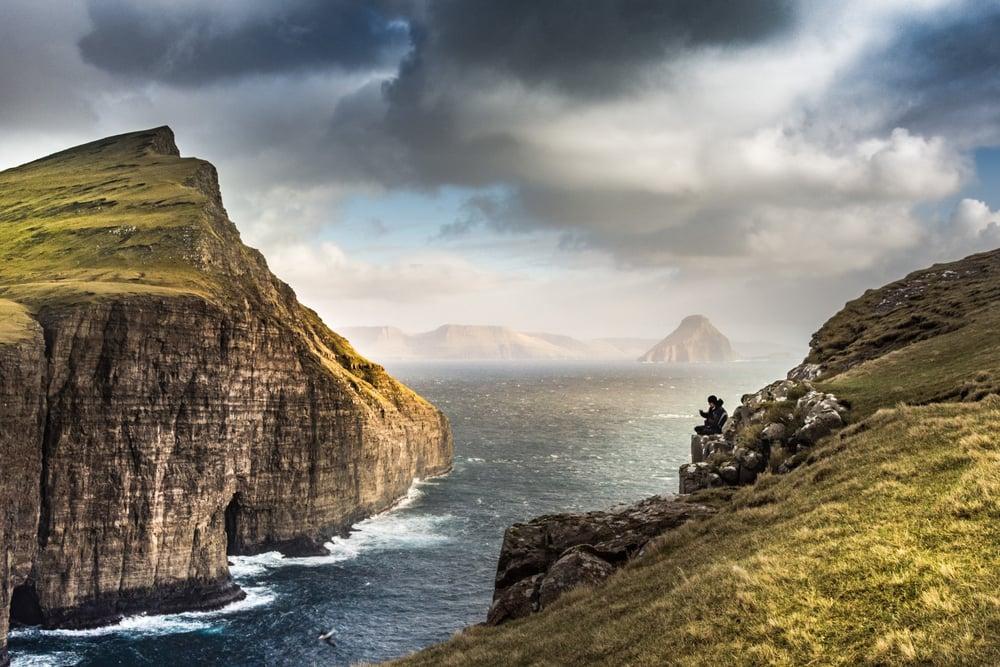 Barsk natur på Færøerne