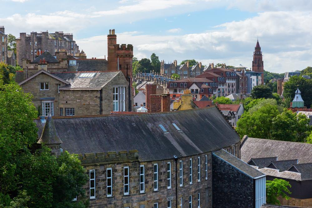 Dean Village - Edinburgh i Skotland