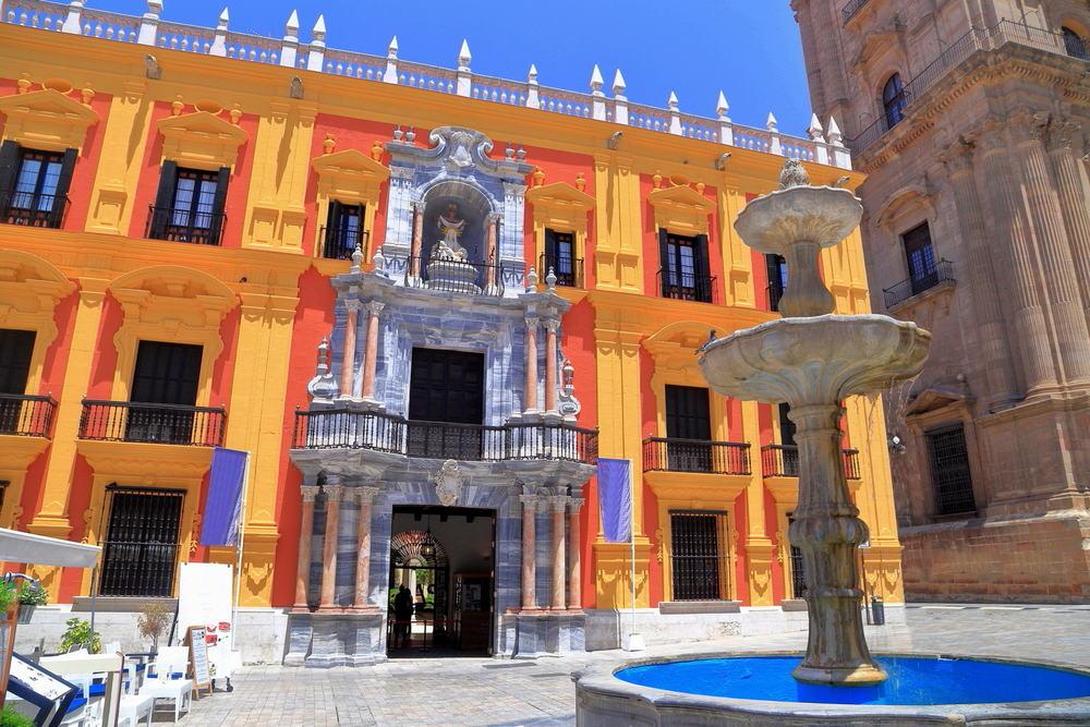 Episcopal paladset - Malaga i Spanien