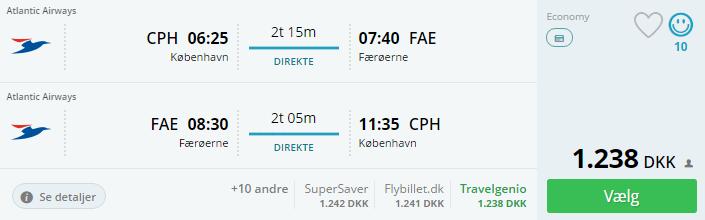 Billige flybilletter til Færøerne