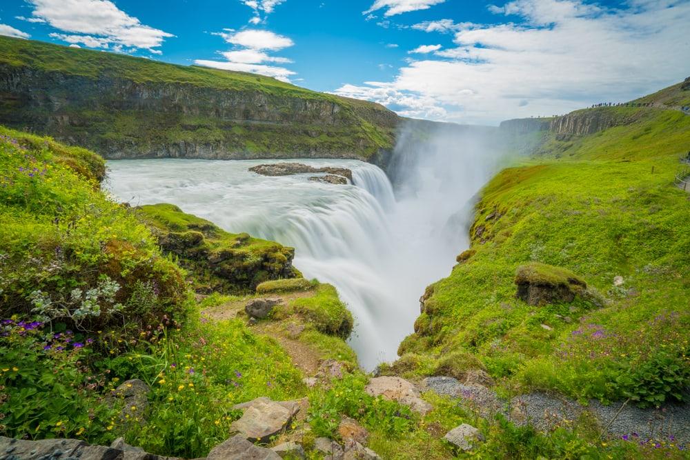 Gullfoss vandfaldet på Island
