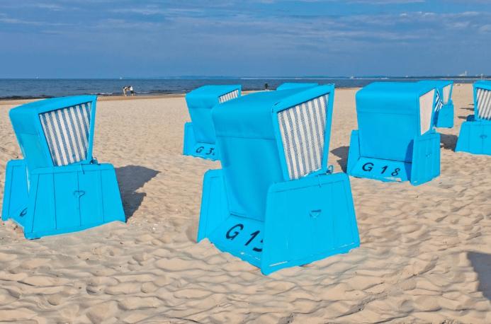 Lækker sandstrand - Swinoujscie i Polen