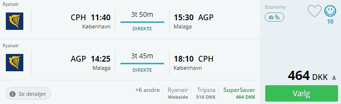 Billige flybilletter til Malaga i Spanien