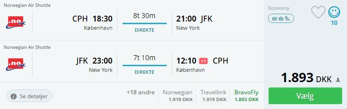 Flyv billigt til New York