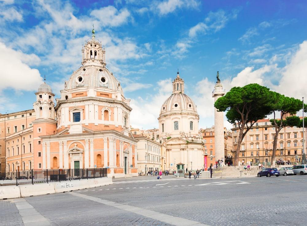 Piazza Foro Traiano - Rom i Italien