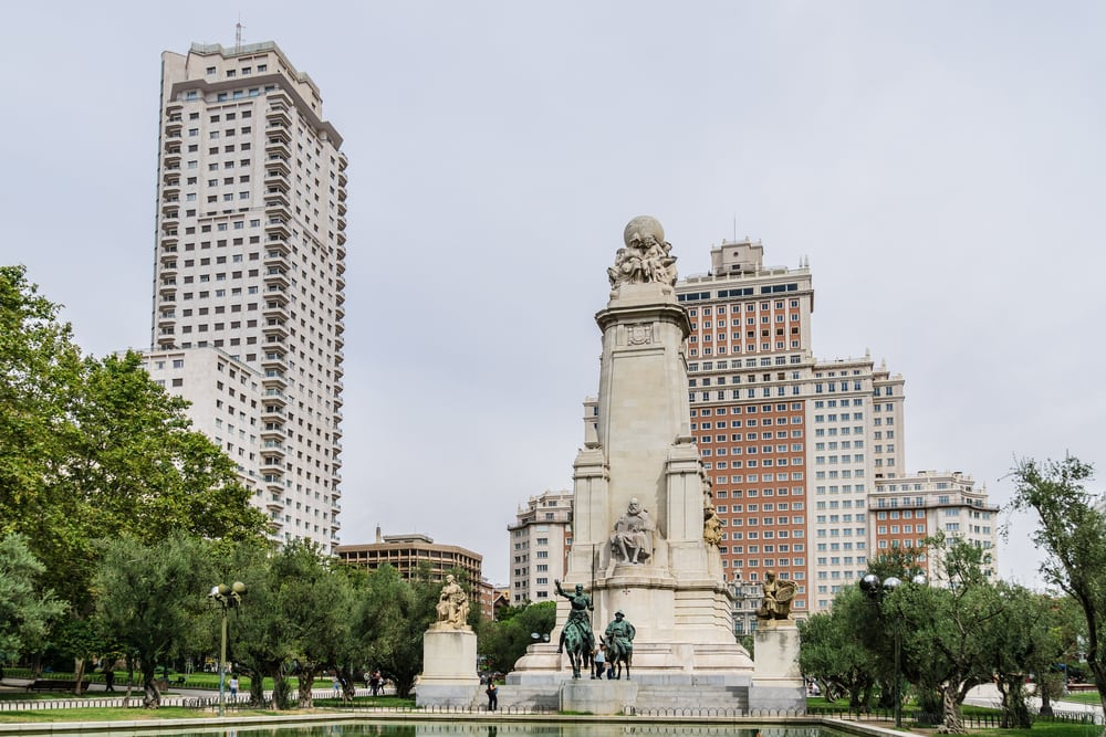 Plaza de Espana - Madrid i Spanien