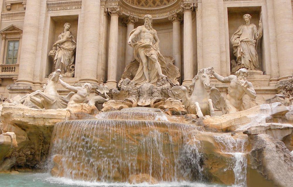 Trevi fontænen - Rom i Italien