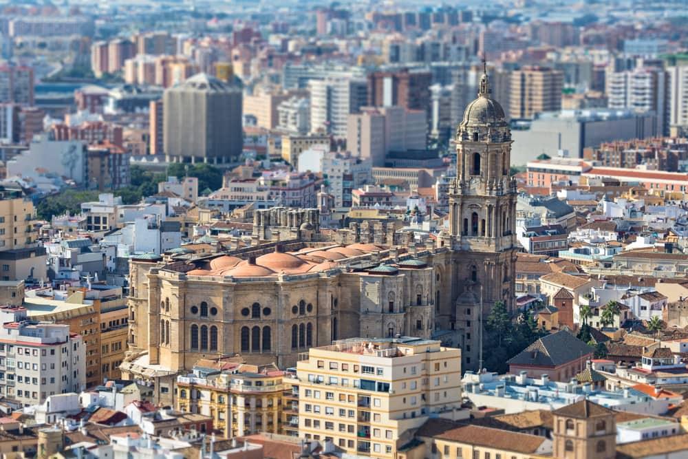Udsigt over Malaga i Spanein