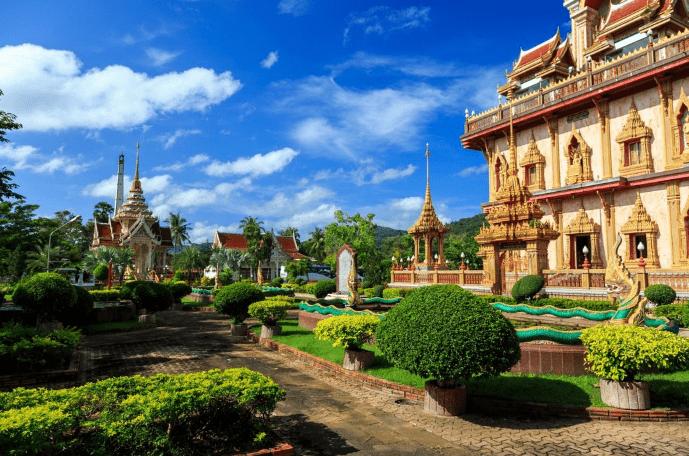 Wat Chalong templet - Phuket i Thailand