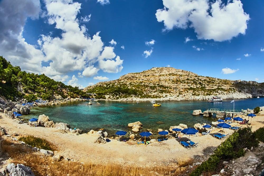 Anthony Quinn bugten - Rhodos i Grækenland