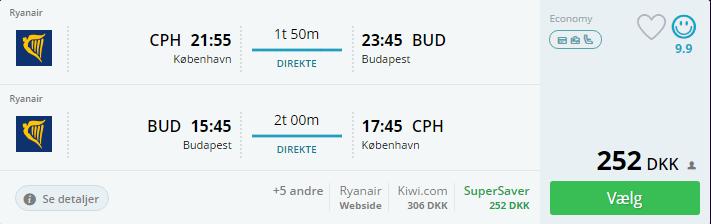 Flybilletter til Budapest i Ungarn