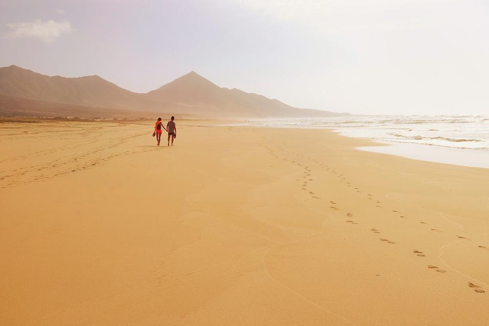 Cofete stranden - Fuerteventura i Spanen