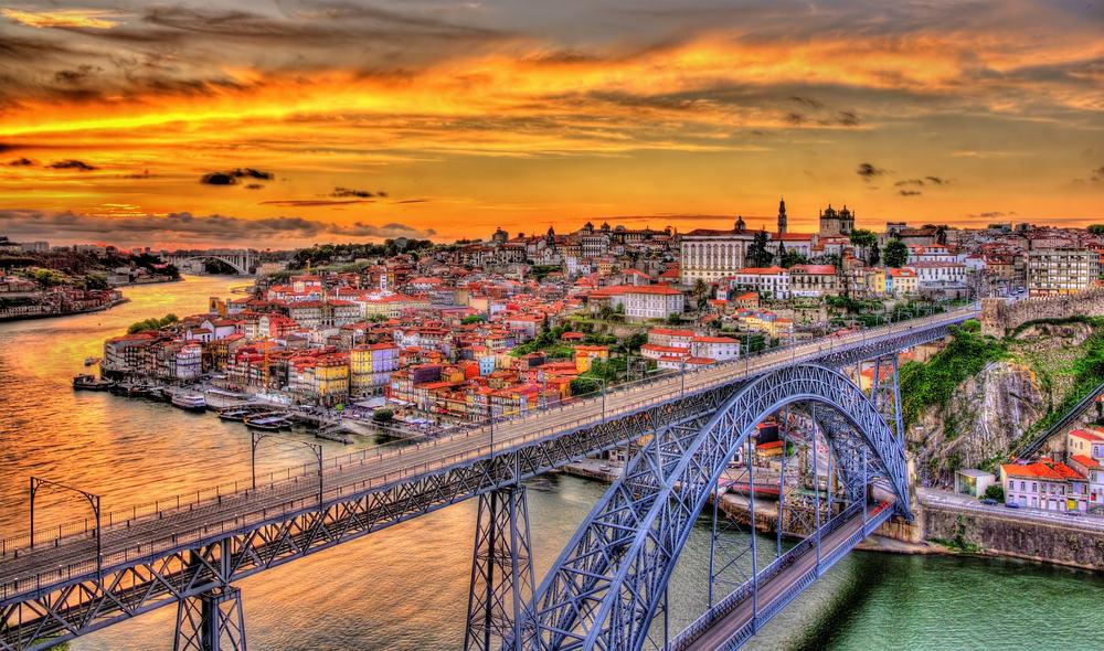 Dom Luis broen - Porto i Portugal