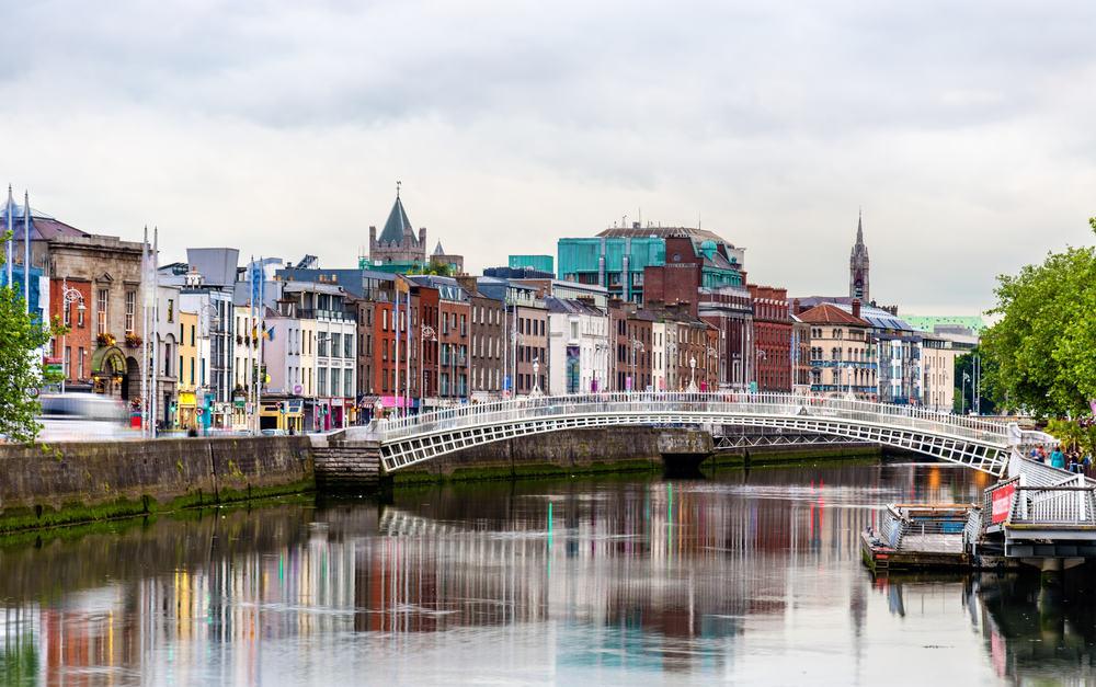 Ha'penny Bridge - Dublin i Irland