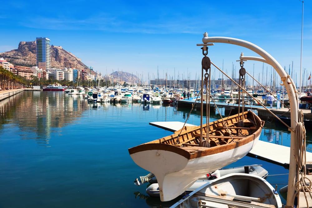 Havnen i Alicante - Spanien