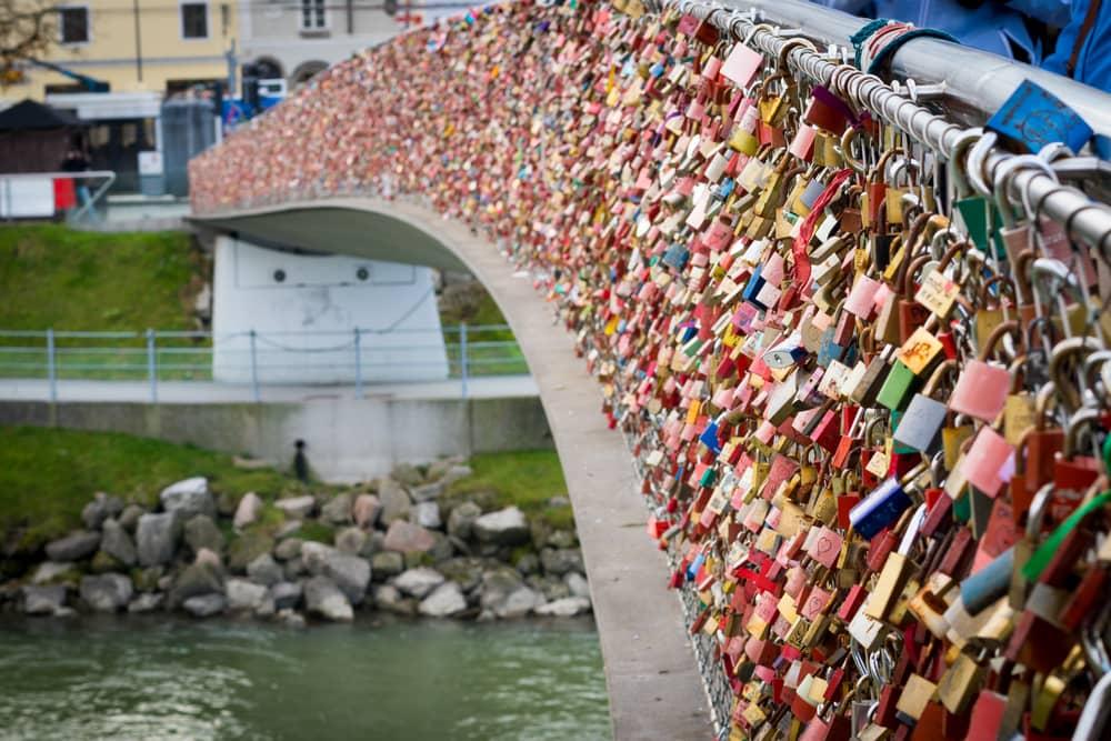 Kærlighedsbro - Salzburg i Østrig