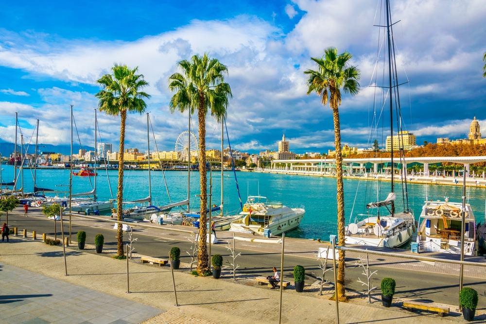 Marinaen i Malaga - Spanien