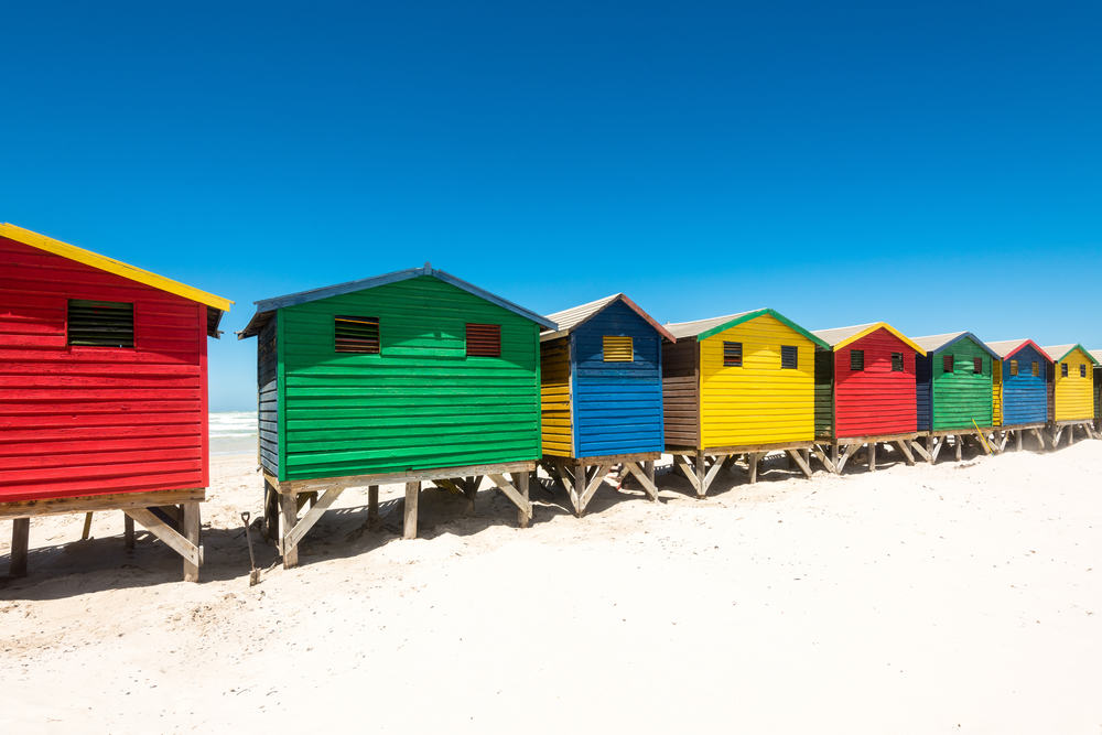 Muizenberg i Sydafrika