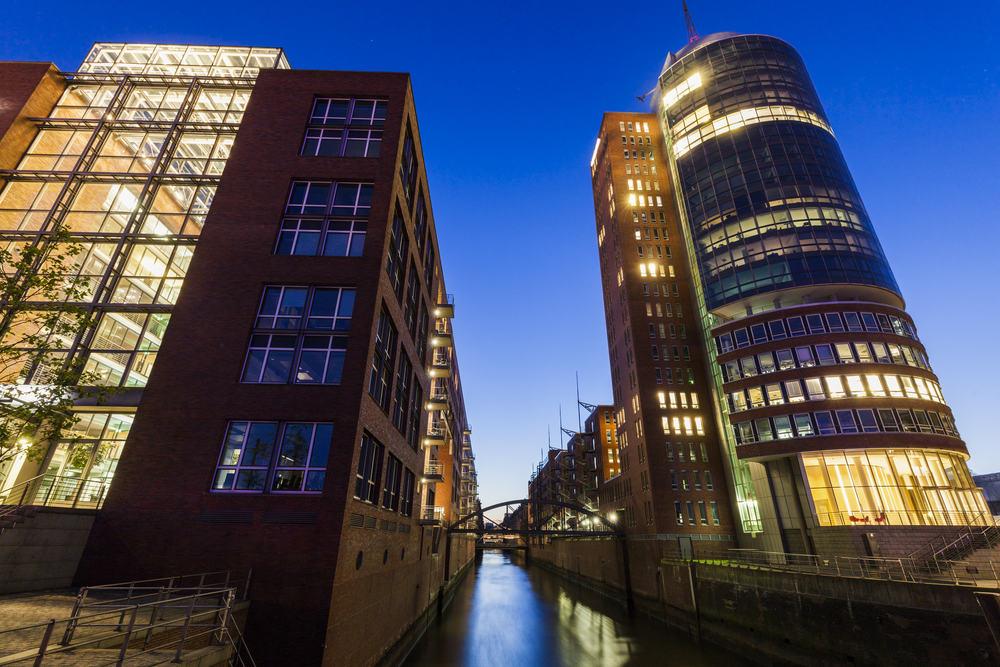 Speicherstadt - Hamborg i Tyskland