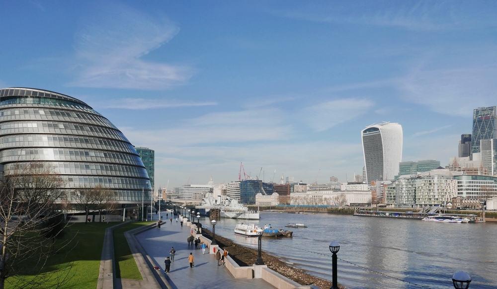 Themsen - London i England
