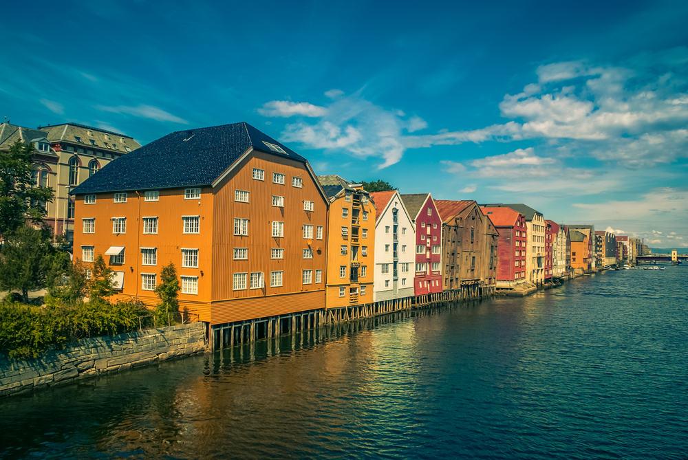 Trondheim i Norge