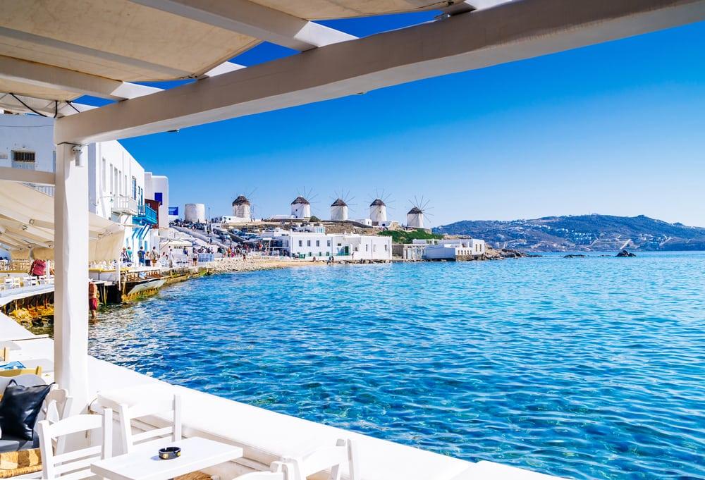 Vindmøller på Mykonos - Grækenland
