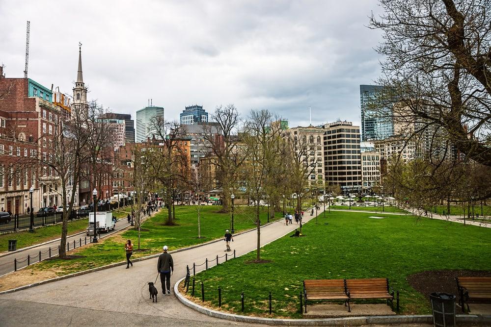 Boston Common Public Park - Boston i Massachusetts - USA