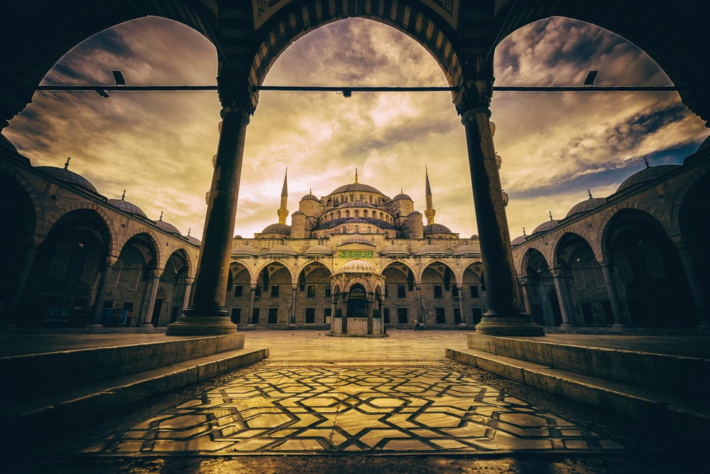Den Blå Moske - Istanbul i Tyrkiet