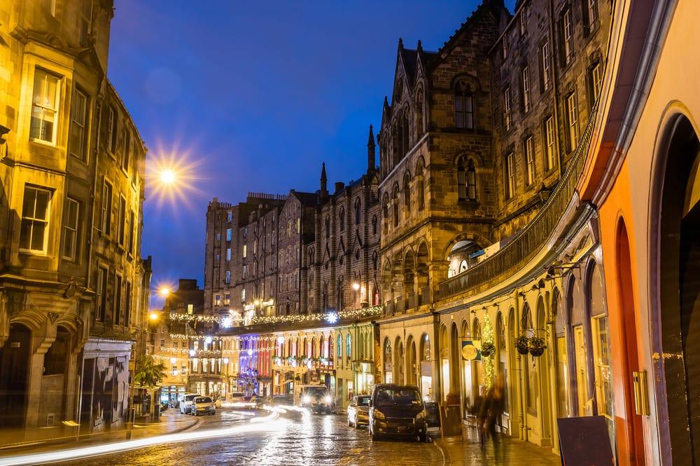 Den gamle bydel - Edinburgh i Skotland