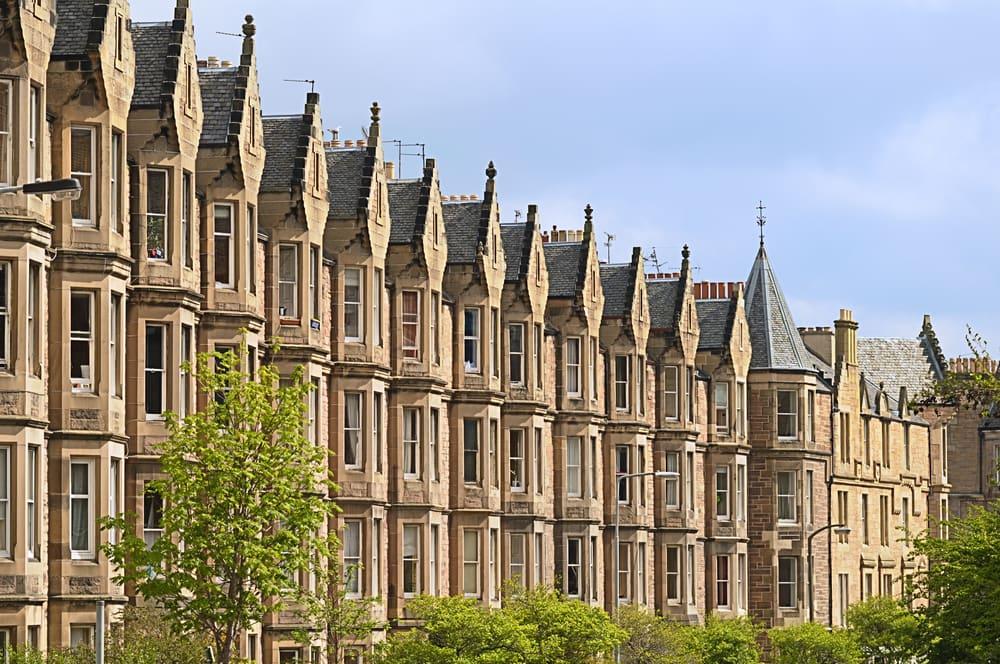 Edinburg i Skotland